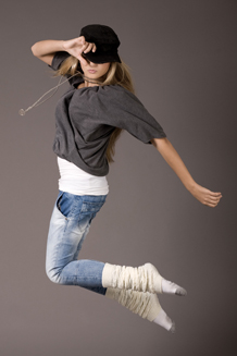 Picture of Girl Dancing to Hip–Hop