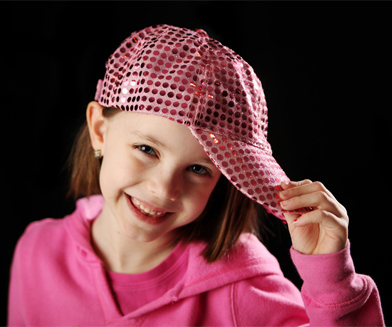 Picture of Girl in Pink Hat