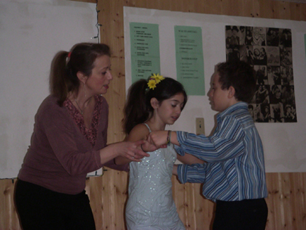 Picture of Marie Zimmer teaching Kids Ballroom Dancing