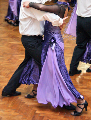 Picture of Couple Doing the Waltz